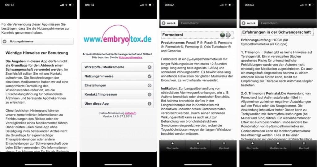 embryotox app